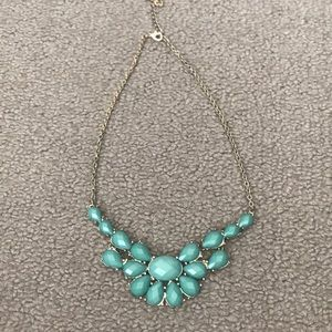 Gold and turquoise necklace
